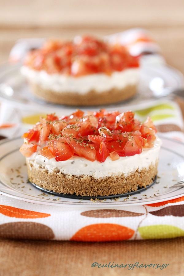 Savory Cheesecake, Dakos Style