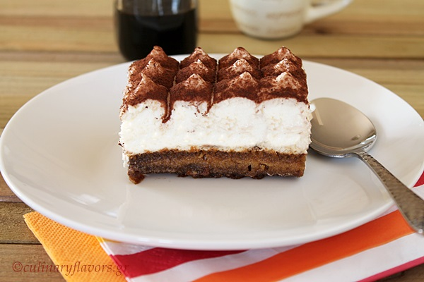 Eggless, Easy Tiramisu