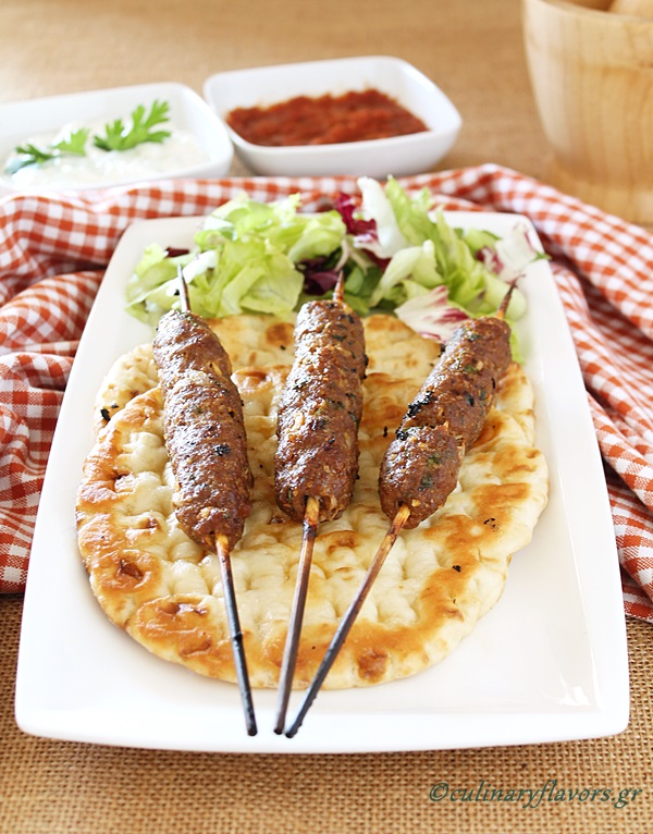 Ground Meat Kebabs with Pitas