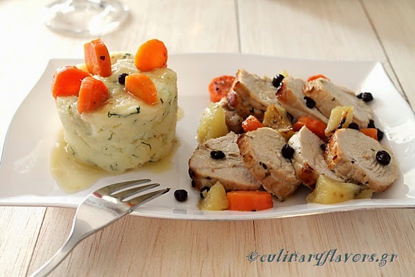 Turkey with Corinthian Raisins and Apples