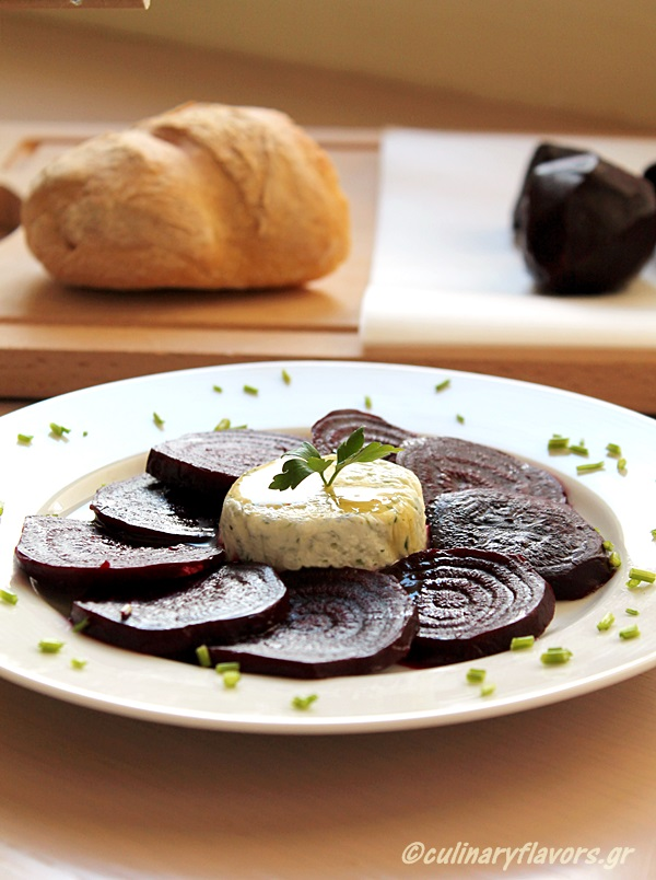Roasted Beets with Aromatized Feta Mousse