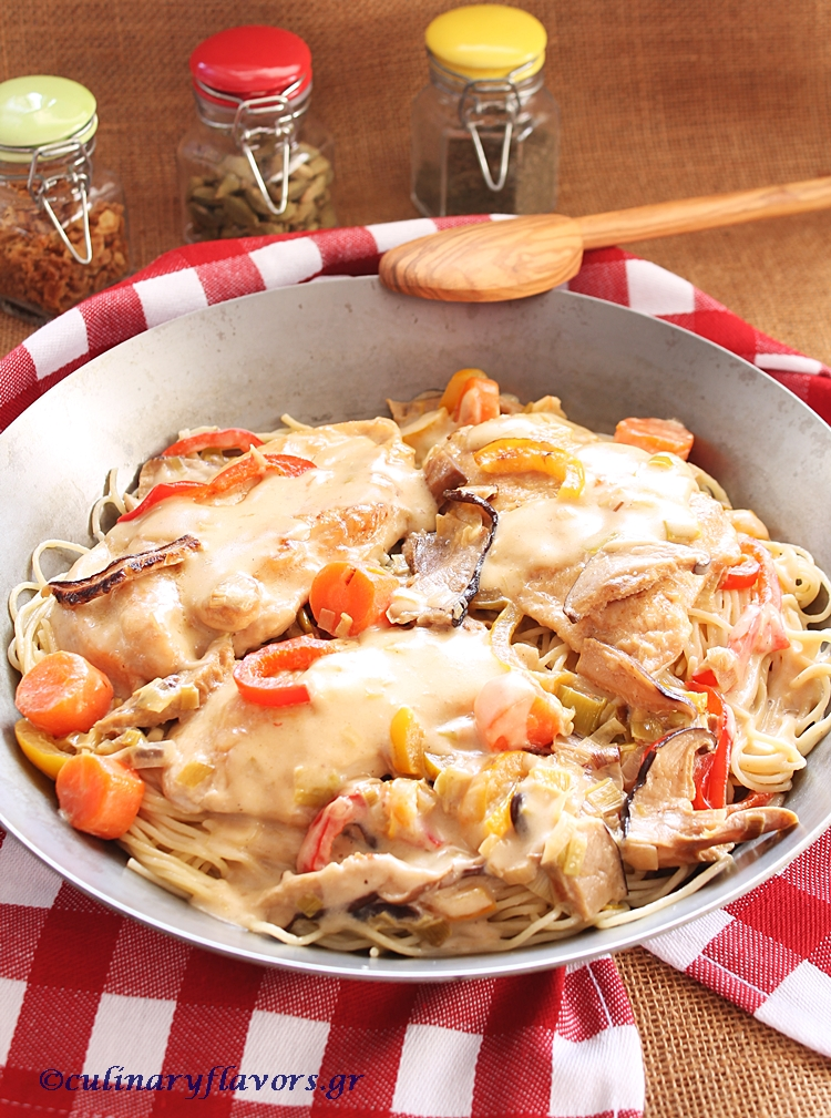 Creamy Chicken with Leeks and Shiitake Mushrooms