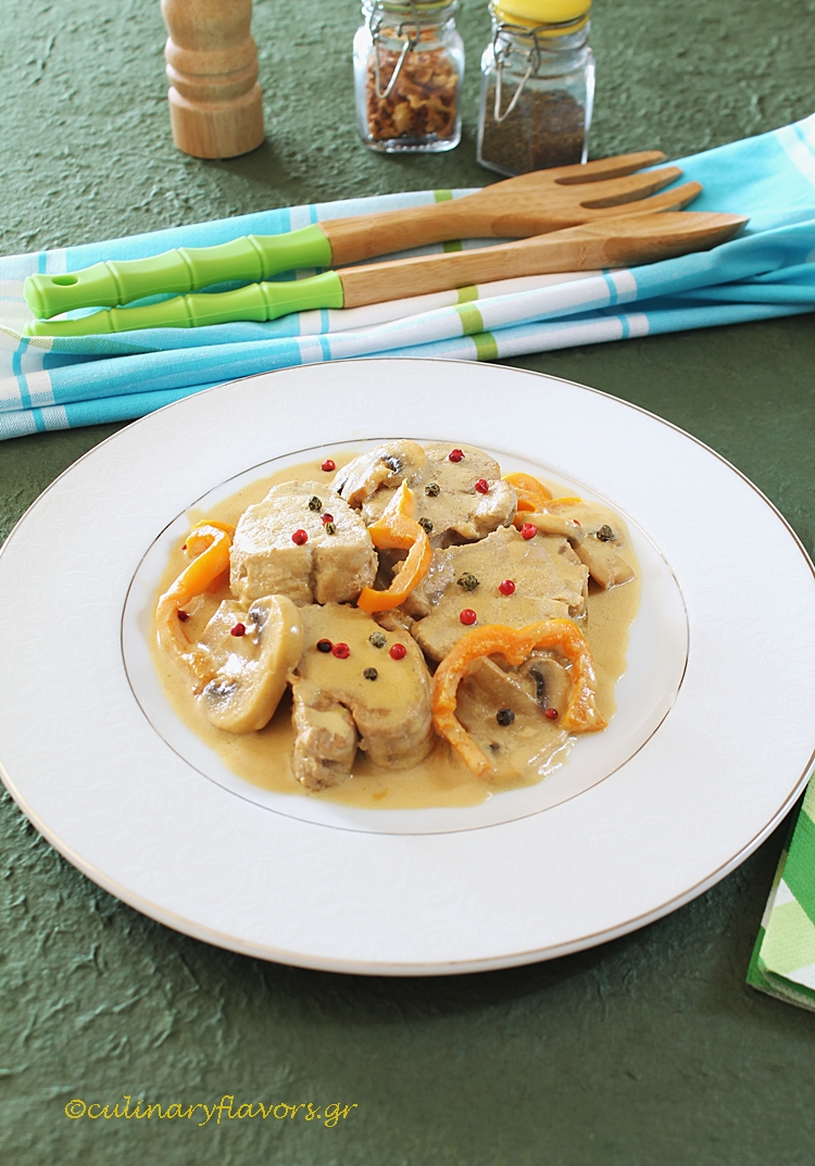 Pork Tenderloin with Creamy Brandy Sauce