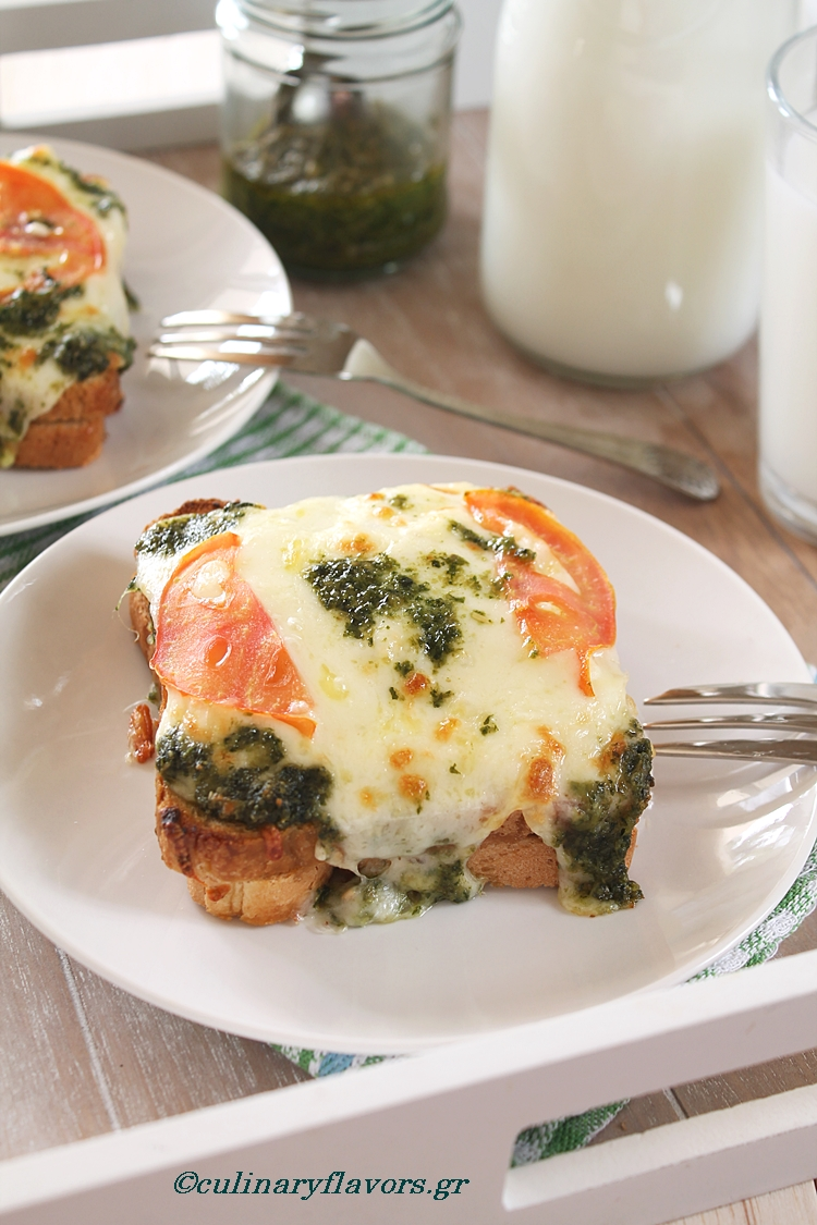 Meatless Croque Monsieur with Pesto