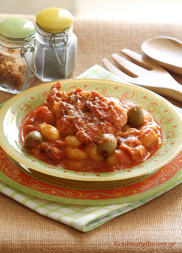 Bardounia Chicken with Gnocchi in the Slow Cooker