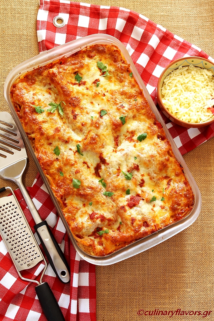 Lasagna with Sun dried Tomatoes and Chicken