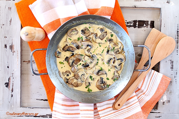 Creamy Garlicky Mushrooms