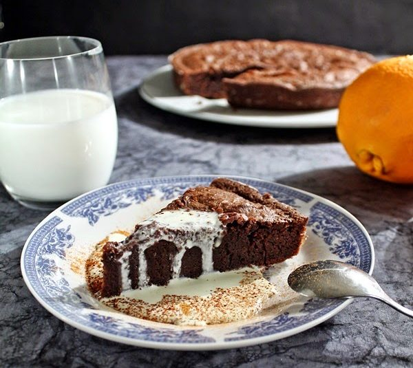 Chocolate Pie with Cointreau