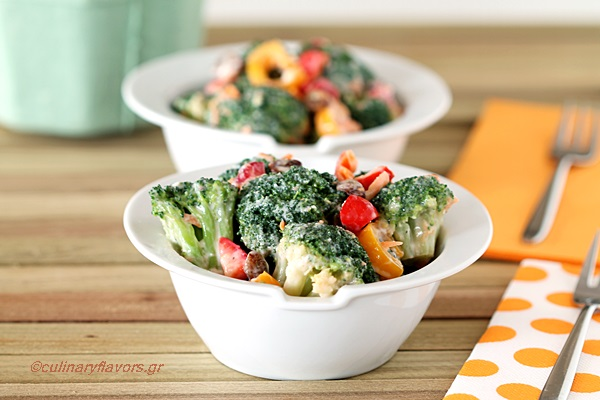Broccoli Salad with Greek Flair