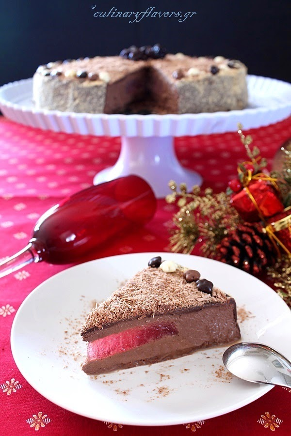 Dark Chocolate Torte with Strawberry Jell