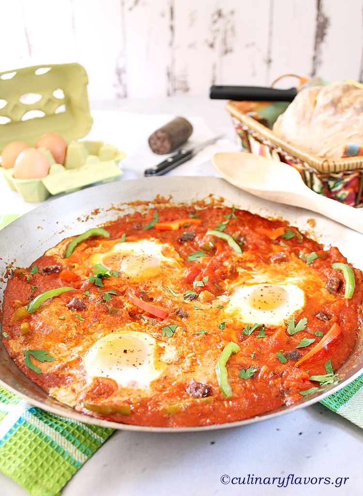 Menemen with Sucuk Sausage my Way
