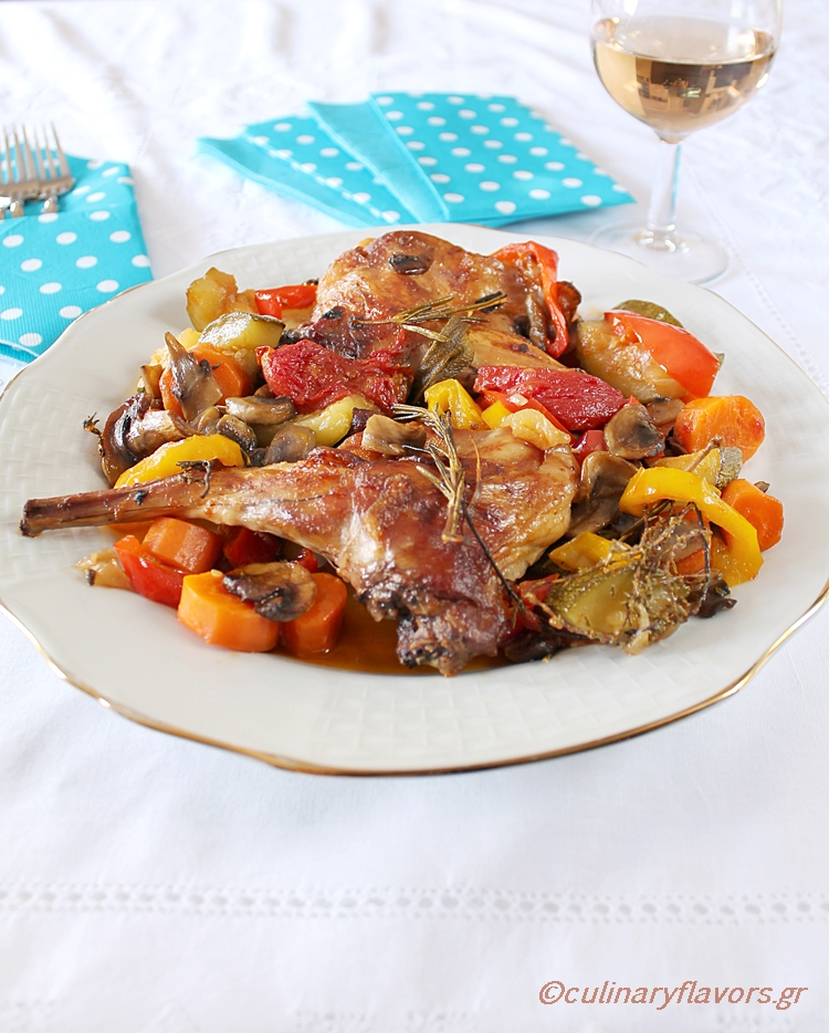 Rabbit with Vegetables and Herbs