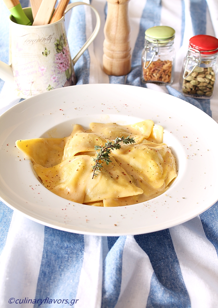 Stuffed Ravioli with Sweet Wine Sauce