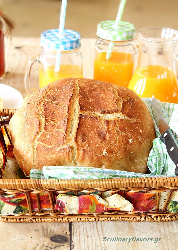No Knead Crusty Bread in No Time