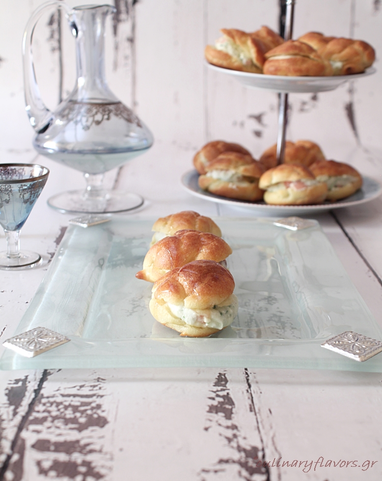 Profiteroles with Feta Mousse and Nóbulo