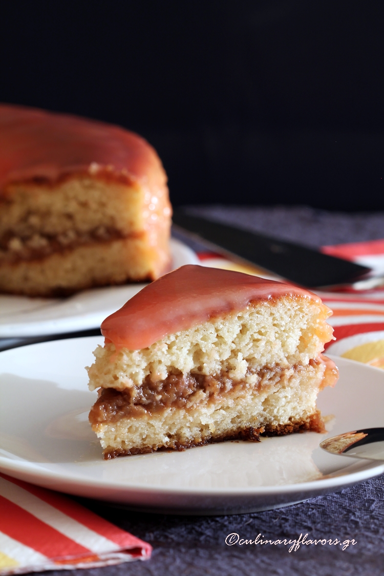 Applesauce Layered Vanilla Cake