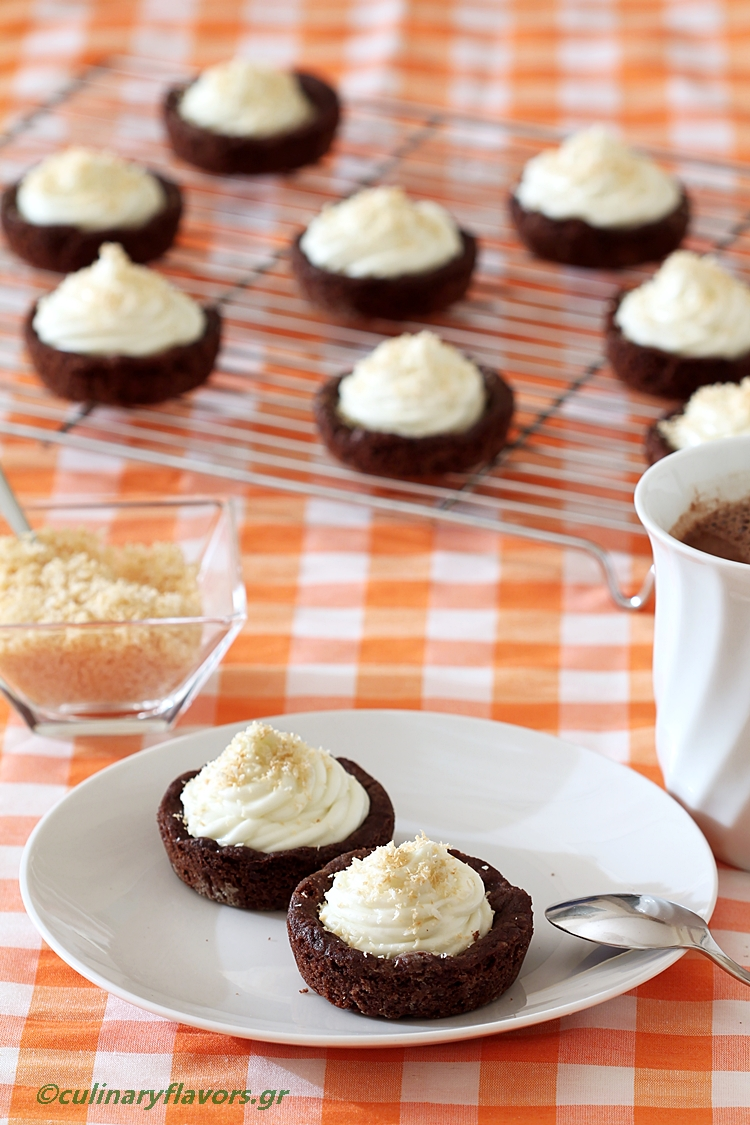 Cookie Cups Filled with Coconut Cream