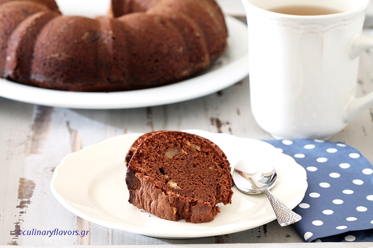 Spiced Chocolate Cake with Glazed Chestnuts and Dried Nuts
