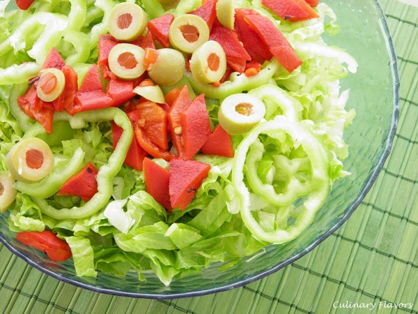 Green Salad with Sweet Garlicky Sauce